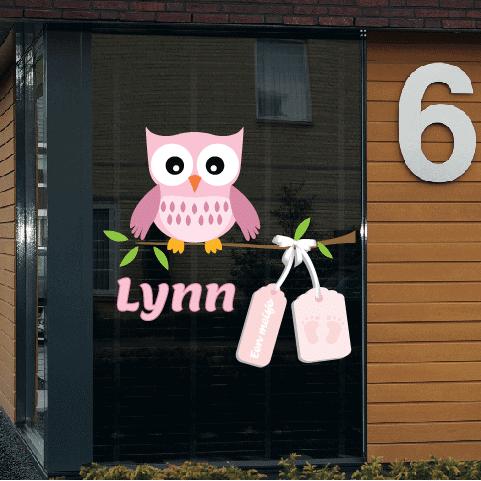 Geboortesticker op raam type Lynn
