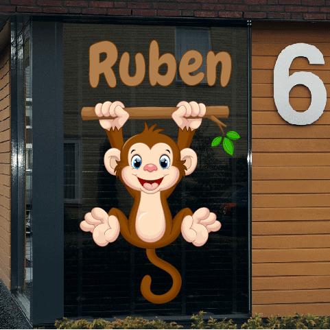Geboortesticker op raam type Ruben