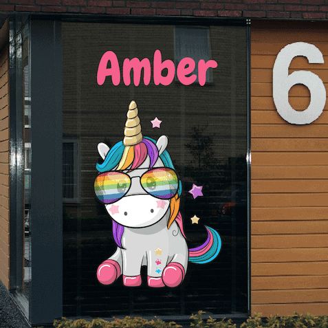 Geboortesticker eenhoorn Amber