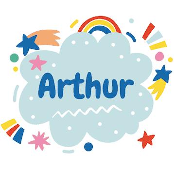 Geboortesticker wolk Arthur