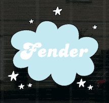 Geboortesticker wolk Fender