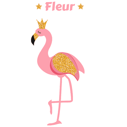 Geboortesticker flamingo Fleur