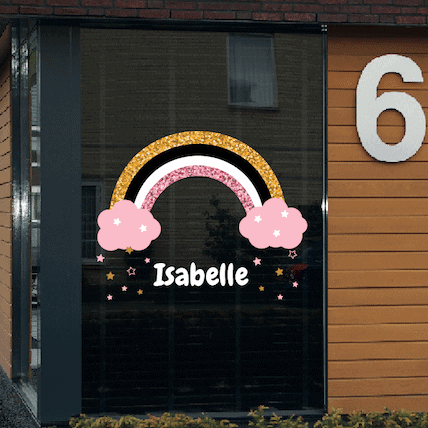 Geboortesticker regenboog Isabelle
