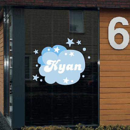 Geboortesticker wolken Kyan