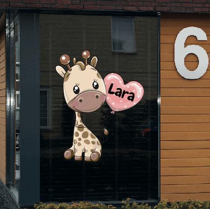 Geboortesticker giraf Lara