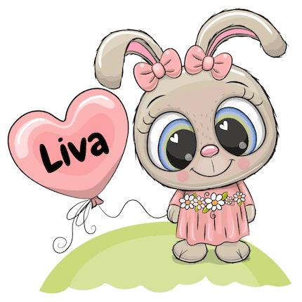 Geboortesticker konijn Liva