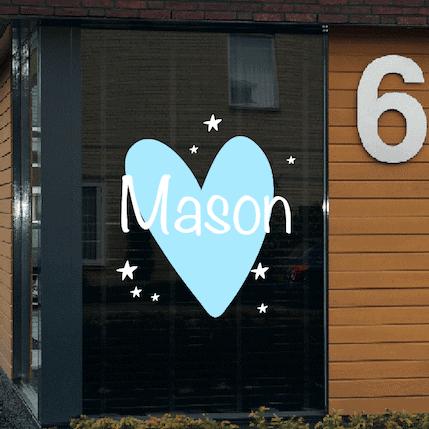 Geboortesticker hart Mason