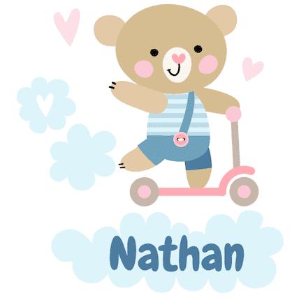Geboortesticker step Nathan