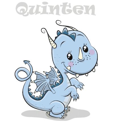 Geboortesticker draakje Quinten