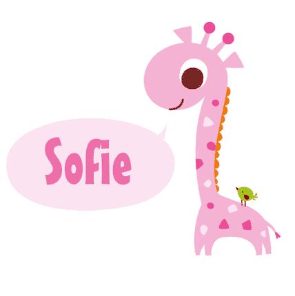 Geboortesticker giraf Sofie