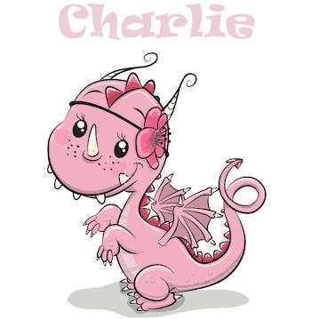 Geboortesticker draakje Charlie