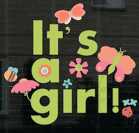 Geboortesticker it's a girl