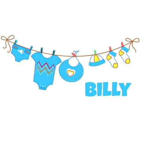 Geboortesticker jongen type Billy