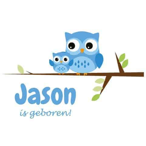 Geboortesticker Jongen type Jason