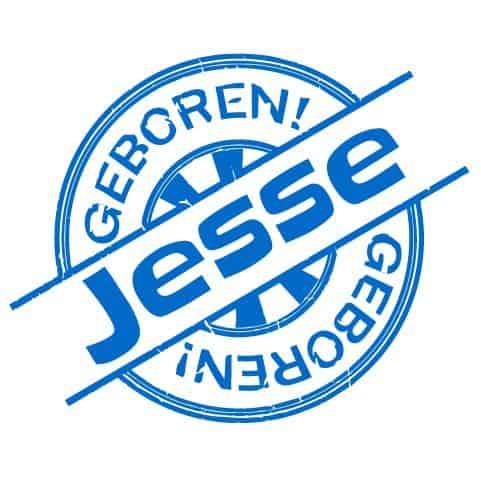 Geboortesticker Jongen type Jesse