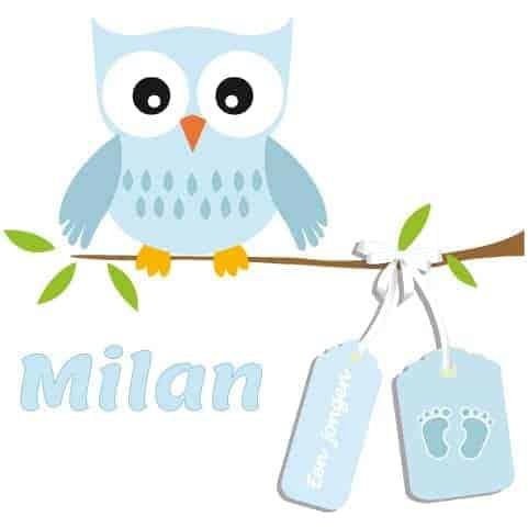 Geboortesticker Jongen type Milan