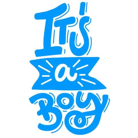 Geboortesticker jongen its a boy