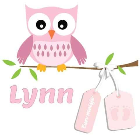 Geboortesticker meisje type Lynn