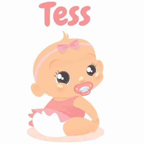 Geboortesticker meisje type Tess