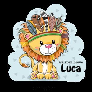 geboortesticker leeuw indiaan